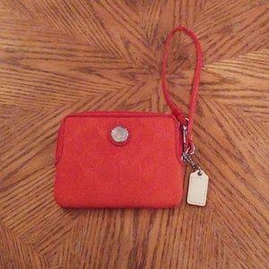 Coach mini wallet wristlet